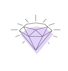Wireframe icon a diamond vector