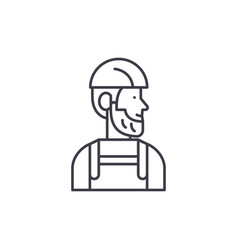 worker line icon concept worker linear vector image