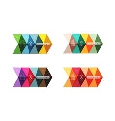arrow infographics business templates set vector image