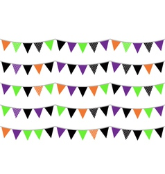 Halloween flags or bunting isolated on white vector image vector image