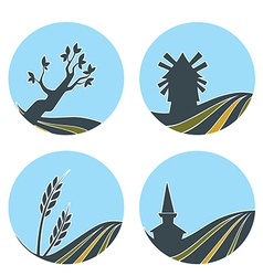 nature and lovely vector image