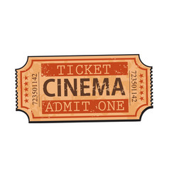one retro style vintage cinema movie ticket vector image vector image