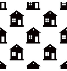 one storey house pattern seamless on white vector image vector image