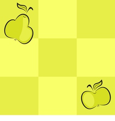 seamless checkered background with fruits vector image vector image