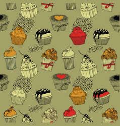 tea pattern design vector image vector image