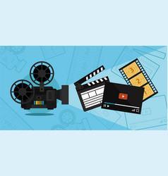 Cinema shooting and video vector