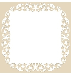 frame with ornament vector image vector image