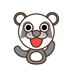 panda baby animal kawaii design vector image vector image