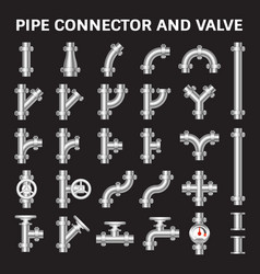 pipe connector vector image