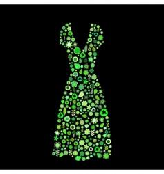 women dress shape vector image vector image