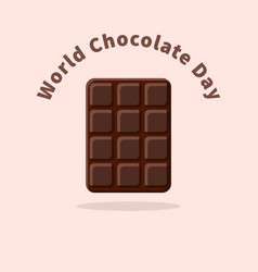 world chocolate day vector image