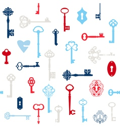 Antique Keys Background vector image