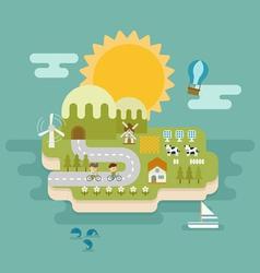 eco green concept flat design vector image
