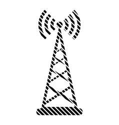 Transmitter sign on white vector image