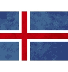 True proportions Iceland flag with texture vector image vector image