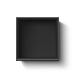 black empty box container isolated on white vector image