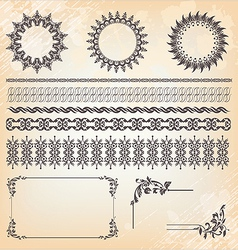 collection of ornaments and page decoration vector image vector image