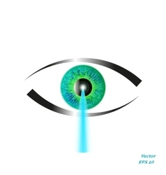Concept of laser vision correction vector image