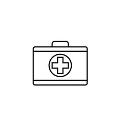 first aid box line icon medical case and bag vector image