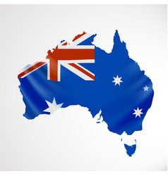 hanging australia flag in form of map vector image vector image