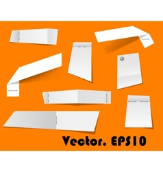 Paper scraps and notes attached with stapler vector image