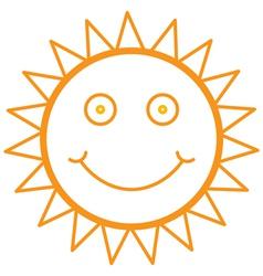 smiley sun vector image