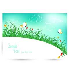 Spring and summer floral vector image vector image