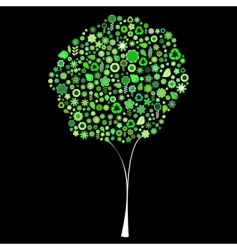 tree shape vector image vector image