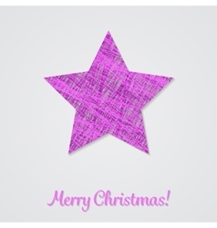 Violet star on a white background vector image vector image