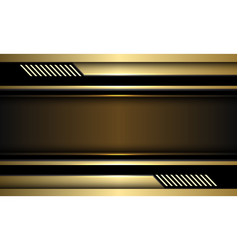 Abstract gold banner black circuit cyber vector