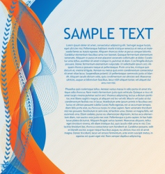 abstract orange blue vector 1 vector image