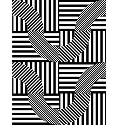 Abstract Striped Geometric Seamless Pattern vector image
