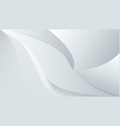 abstract white background with smooth lines 3d vector image
