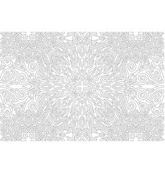 Adult coloring book art with vintage pattern vector