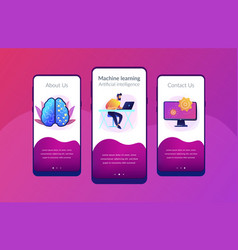 artificial intelligence concept app vector image
