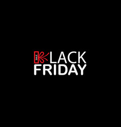 black friday sale modern simple flat template vector image