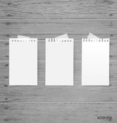 Blank white note papers ready for your message vector
