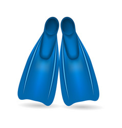 Blue flippers for diving and swimming vector