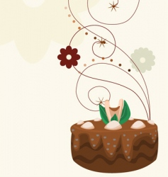 Cake with background vector
