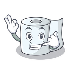 Call me tissue character cartoon style vector