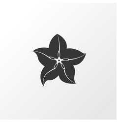 carambola icon symbol premium quality isolated vector image