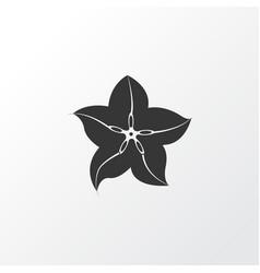 Carambola icon symbol premium quality isolated vector