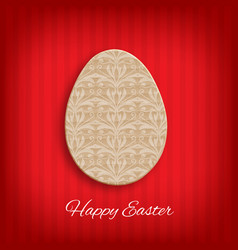 Cardboard easter egg vector