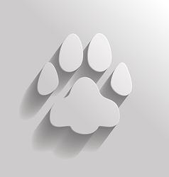 Cat paw vector