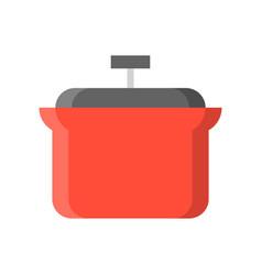 ceramic stew pot icon flat design isolated vector image