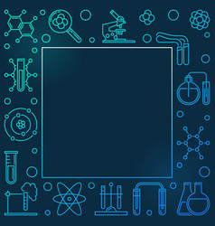 chemistry colored square frame in thin line vector image