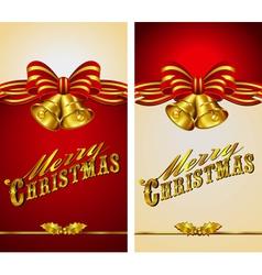 Christmas Menu Card Bells vector