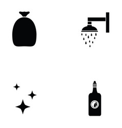clean icon set vector image