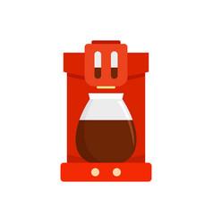 coffee machine icon flat style vector image
