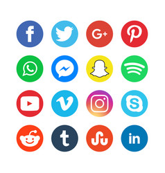 collection social media icons vector image